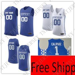 f70018213d8 Basketball Jersey Xxl NZ - Custom Kentucky Wildcats College Basketball  jersey royal blue white Personalized Stitched