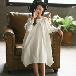 korean kid white dress 2019 - New 2019 Girl's White Dress Cotton Loose Dress Kids Dresses for Girls Baby Princess Children Korean Personality,#53