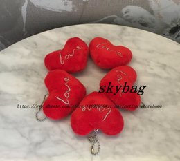heart shaped plush NZ - Super Sweet Love Heart Shape , Mini Size 6CM Plush Toy , rope String Pendant Chain stuffed plush TOY , Wedding Gifts