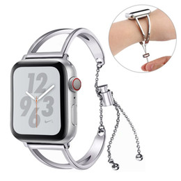 Silver Red Apple Pendant Australia - Chain Pendant Stainless Steel Watch Band for Apple Watch Band 38mm 42mm iwatch Series 1 2 3 4 Bracelet Straps Wrist Watch Band