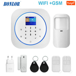 gsm home security systems Australia - Tuya APP Smart WiFi GSM Home Security GSM Alarm System 433MHz Detectors Alarm Compatible With Alexa Google Home IFTTT Tuya APP