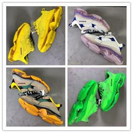 Cartoon shoes sale online shopping - With Bag Hot Sale Original Triple S Sneakers Air Cushion Shoes Men Women Sneakers Balenciaga Tennis Shoes A11