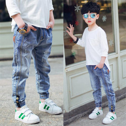 $enCountryForm.capitalKeyWord Australia - 2019 New Children's clothes boy's jeans, Spring and autumn big boys casual leggings ankle length trousers kids fashion jeans.