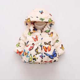 Toptan satış Sonbahar ve Kış Dış Ticaret çocuk Pamuklu Giysiler Kelebek Baskılı Avrupa ve Amerika'da Çocuk Pamuklu Giysiler