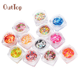$enCountryForm.capitalKeyWord Australia - Approx.7g box 12 Colors Nail Glitter Powder Shinning Nail Mirror Powder Makeup Art DIY Chrome Pigment With Sponge Stick 0125