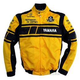 $enCountryForm.capitalKeyWord Australia - Summer MOTO GP 50-year Anniversary Jacket For YAMAHA Racing Team Summer Motorcycle Mesh Breathable Jacket With 5 Protective Gear