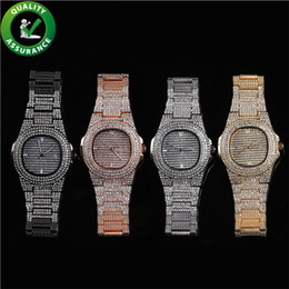 Pandora rhinestone silver charms online shopping - Luxury watch iced out diamond mens designer watches hip hop jewelry women fashion pandora style charms rapper bling rhinestone wristwatch