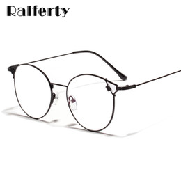 spectacles gold frame 2019 - Ralferty Cat Eye Glasses Frame Women Transparent Glasses 2019 Clear Eyeglass Black Spectacle Frame Zero Point Diopters W