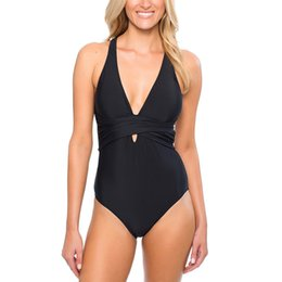 $enCountryForm.capitalKeyWord UK - Women Deep V Neck Sexy Swimsuit Girl Bind Backless Bikinis Bandeau Swimwear Swimsuits Beachwear Monokini
