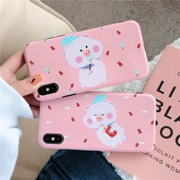 $enCountryForm.capitalKeyWord Australia - For iPhone X XS MAX  XR 8 7 6 Plus Mobile Couple Phone Case Models Shell Cute Soft Shell Exquisite Pink Trend Dirt-resitant Protective Case
