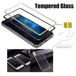 Iphone 5s screen protectIon online shopping - Ultra Thin D Curved Edge Titanium Alloy Design full screen protection Tempered Glass Film For iphone8 Plus plus plus s
