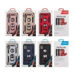 Cell Phone Cases For Cheap Canada - Wholesale Cheap heavy duty Kickstand hybrid Cell Phone armor Cases for iPhone 8 7 XS Samsung S9 8 7 10 Mobile Cover