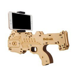 $enCountryForm.capitalKeyWord Australia - HOT! Bluetooth AR-Gun Newest style 3D VR Games Wooden Material Toy Portable AR Game-Gun for Android iOS iPhone Phones