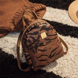 $enCountryForm.capitalKeyWord Australia - Fashion Small Backpack Wave Tiger Leopard Print Woman Travel Backpack Large Capacity Student Girl School Shoulder Bag Rucksack#4