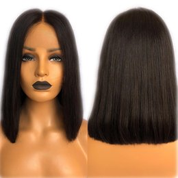 Remy fRont lace closuRe online shopping - 13X6 Lace Front Wig Pre Plucked With Baby Hair Brazilian Straight Human Hair Wigs Remy Hair X4 Silk Base Lace Front Closure Wigs
