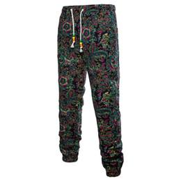 Drawstring Trousers Australia - 2019 Men Plus Size Trousers Jogger Men Pants For Casual Drawstring Full-Length Fashion Print Trousers Loose Straight Pants