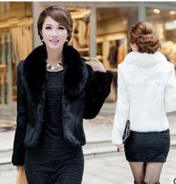 White Faux Fur Shorts Australia - 2019 Retro Style Women Clothing Fluffy Big Retro Black Noble OL Winter Fall Overcoat 2019 Party Faux Fur Short Coats YY1003