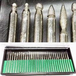 $enCountryForm.capitalKeyWord NZ - DIY Tool for Glass Marble Rock Jewelry Engraving Rotary Tool Drilling Cutting Grinding Diamond Burr Glass Drill Bit 30 Pcs Set