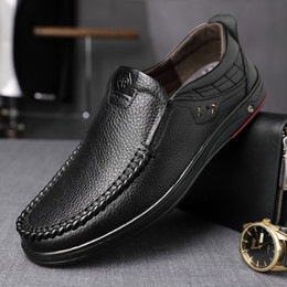 spring business casual NZ - Spring And Autumn Casual Leather Shoes Men Business Formal Wear MEN'S SHOES Genuine Leather round-Toe Middle-aged Father's Shoes