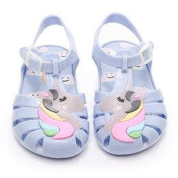Cute Sandals For Baby Girls Australia - 2019 New Kids Mini Jelly Sandals For Baby Children Sandals Girls Summer Cute Unicorn Beach Flat Shoes Infantil Sandalia Y19051303