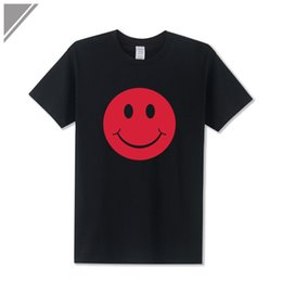 neck face clothing 2019 - 2019 men s designer clothing tshirt New Fashion Cute Acid Smiley Face Expression Printed T Shirt Short-Sleeve O Neck Cot