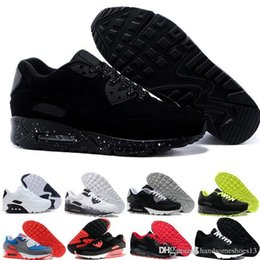 pink running shoes for men UK - 2019 New arrivel 90 running shoes for men womens Laser Pink triple white black infrared ESSENTIAL Bred sports sneaker trainers size 36-45