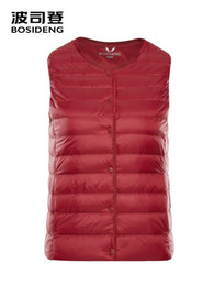down vests women NZ - BOSIDENG down vest for women 90% duck down waistcoat sleeveless vest high quality with pocket covered button B80130010