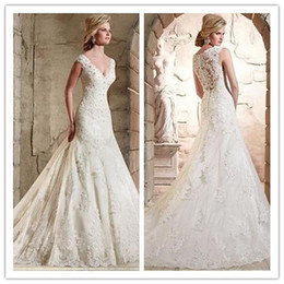 $enCountryForm.capitalKeyWord Australia - New lace print Wedding dresses sexy V neck sleeveless hot selling decoration sexy back skirt bohemian wedding dress bridal gowns