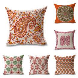 $enCountryForm.capitalKeyWord Australia - Indian Pattern Vortex Throw Massager Pillow Case Decorative Pillows Warm Home Decor Vintage Gift