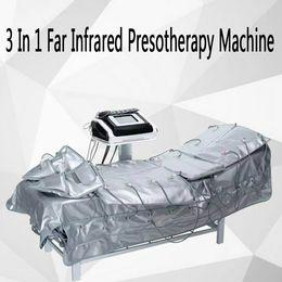 Discount lymph pressure machine - 3 In 1 EMS Far Infrared Pressotherapy Electric Muscle Stimulation Sauna Air Pressure Pressotherapy Body Slimming Lymph D