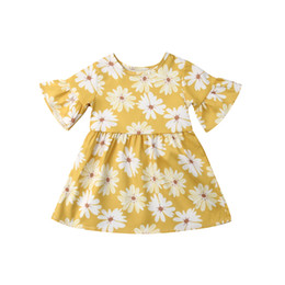 Flowers Girl Dresses Wedding UK - 2019 New Lovely Casual Toddler Baby Girl Dress Princess Flower Party Wedding Sundress Pageant Dresses Kids Clothes