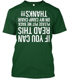 Chinese  mens designer t shirts shirt Put Me Back On My Camp Chair - If You Can Read This Popular Tagless Tee T-Shirt manufacturers