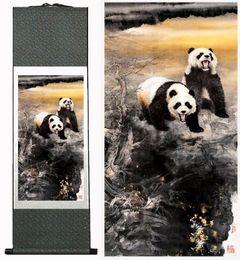 $enCountryForm.capitalKeyWord NZ - Panda Painting Traditional Chinese Art Painting Silk Scroll Panda Art Painting