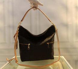 Designer Logo Handbags NZ - Designer- newest hot Sale Genuine leather Big Shopping Bag for women branded designer mothers ' handbag famous logo L totes shoulder bag