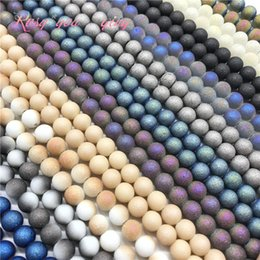 Glasses Production Australia - Wholesale 6 8 10mm high quality frosted glass beads, round beads DIY jewelry jewelry bracelet necklace production