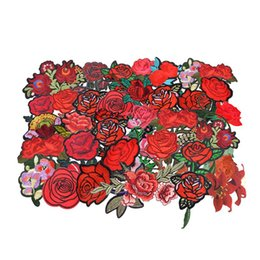 $enCountryForm.capitalKeyWord UK - IY Apparel Sewing Fabric Hoomall Iron On Patches For Clothing DIY Badge Stickers Applique Embroidery Flowers Patches For Clothes Women's...