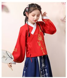Chinese Wholesale Red Dresses Australia - Girls 'Hanfu summer dress 2019 new costume Super fairy Chinese style big girl costume dress D201