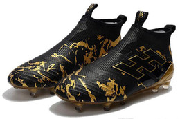 $enCountryForm.capitalKeyWord UK - Ace 17+ Purecontrol Primeknit outtdoor Soccer Cleats Firm Ground Cleats Trainers FG NSG MenV2Football Boots Soccer Shoes Gold Black