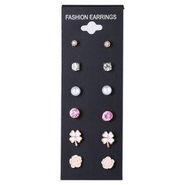 Earrings Smart New Blue Bow Stereo Crystal Box Stone Earrings For Women White Cute Sweet Wild Girls Earrings Wholesale