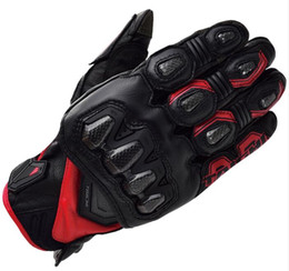 Leather Gloves Rs Taichi Australia - Free Shipping Racing rs-taichi 422 Leather Gloves Titanium Drive Motorcycle Gloves
