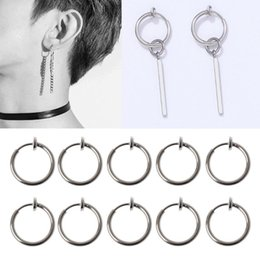 $enCountryForm.capitalKeyWord Australia - 10Pcs Sliver No Ear-hole DIY Clip On Circle Hoop Earrings For Jewelry Making