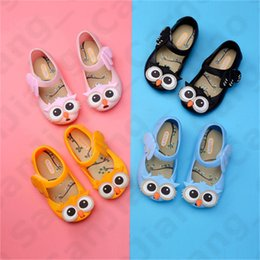 cute heels kids 2020 - Baby Kids Girls Sandals Cartoon Owl Jelly Princess Shoes Summer Children Cute Beach Shoes Baby Anti-slip Wearproof Sanda