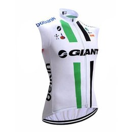 green giant clothing UK - 2020 GIANT team Cycling Sleeveless jersey Vest New Quick Dry Windproof Clothing Bike roupa ciclismo Breathable Sportwear U20042901