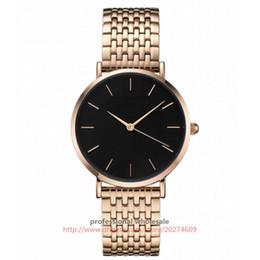 Wrist Watches Logos Australia - Wholesale Fashion Design Simple Dial No Logo Alloy Case Steel Mesh Belt Casual Wrist Watch relojes