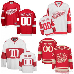 Chinese  Custom Detroit Red Wings White Third Jersey Any Number Name men women youth kid Athanasiou Nielsen Nyquist Bertuzzi Howe Bernier Yzerman manufacturers