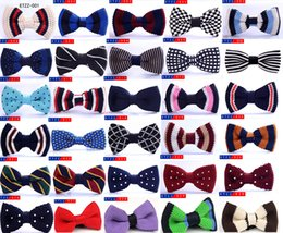 $enCountryForm.capitalKeyWord NZ - baby boys bowties high quality Birthday Party bow tie Adjustable gifts kids Toddler wedding Necktie knitting mix colors 10*5cm