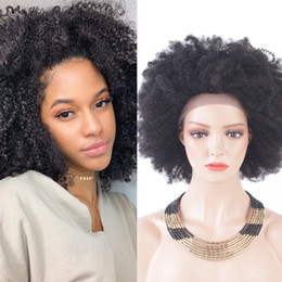 $enCountryForm.capitalKeyWord Australia - Free Shipping Short Afro Kinky Curly Human Hair Wigs Brazilian Lace Front Human Hair Wigs Glueless 130% density Short Bob Full Lace Wigs