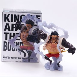 Discount big one toy Cool anime One piece action figure SCultures BIG luffy vinyl doll Gear Fourth Monkey.D.Luffy SPECIAL COLOR ver model toy