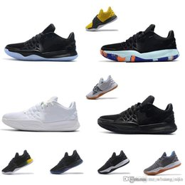 a0458df5da1 Cheap Mens Kyrie low cut basketball shoes for sale Triple Black White Multi  color Flytrap elite kyries irving 4 IV sneakers boots with box