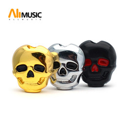 guitar tuner knobs 2021 - 60pcs Plastic Skull Head Shape Guitar Tuning Peg Tuner Machine Head Replacement Button knob Handle Black Chrome Gold
